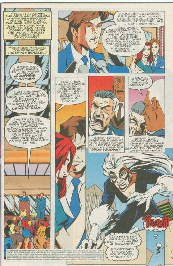 The saddest part of the Clone Saga? They had to parody themselves to save face. Didn't work.