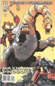 """Yesterday's"" Comic> Transformers: Maximum Dinobots #4"