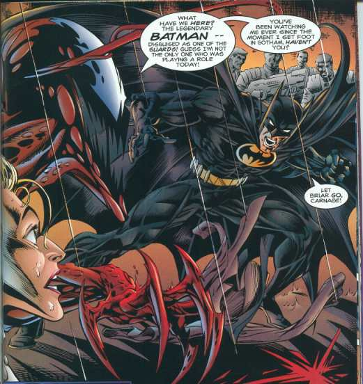 Batman confronts Carnage