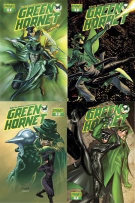 Green Hornet #1 covers