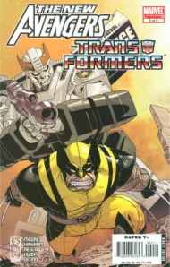 """Yesterday's"" Comic> New Avengers/Transformers #2"