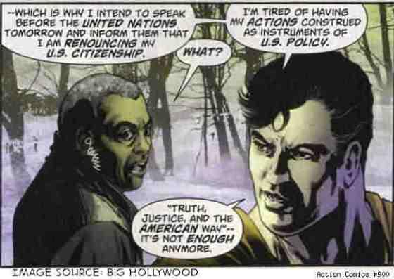 Superman renounces US citizenship