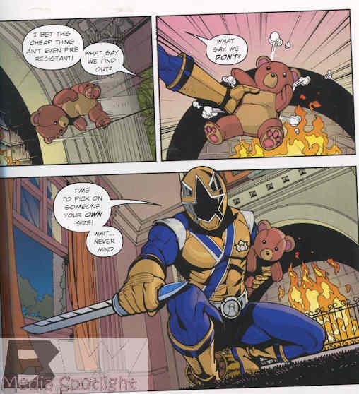 Gold Ranger, rescuer of teddy bears.