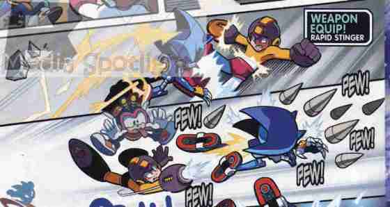 """I also like how, when Mega Man uses the attacks from the roboticized friends of Sonic the characters actually appear in """"spirit"""". This was the funniest."""