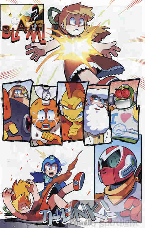 Just look at everyone's reaction when Roll takes the shot meant for Mega Man.