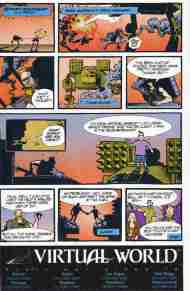 """Yesterday's"" Comic Extra: Battletech/Virtual World advertisement"