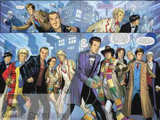 Always cool to see all the Doctors together.