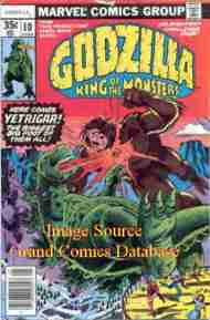 """Yesterday's"" Comic> Godzilla #10 (Marvel)"