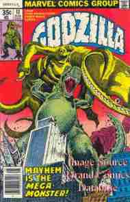"""Yesterday's"" Comic> Godzilla #13 (Marvel)"