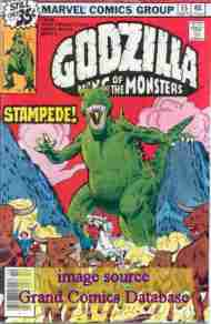 """Yesterday's"" Comic> Godzilla #15 (Marvel)"