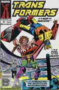 """Yesterday's"" Comic> The Transformers #55"