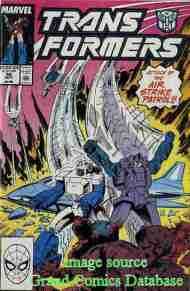 """Yesterday's"" Comic> The Transformers #56"