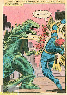 Godzilla learned to punch. Dum Dum is a good teacher.
