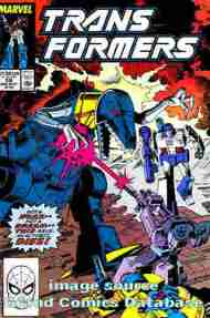 """Yesterday's"" Comic> The Transformers #59"