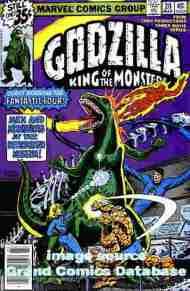 """""""Yesterday's"""" Comic> Godzilla #20(Marvel)"""