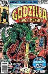 """""""Yesterday's"""" Comic> Godzilla #21(Marvel)"""