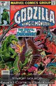 """Yesterday's"" Comic> Godzilla #22 (Marvel)"