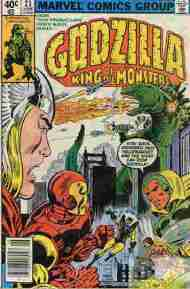"""""""Yesterday's"""" Comic> Godzilla #23(Marvel)"""