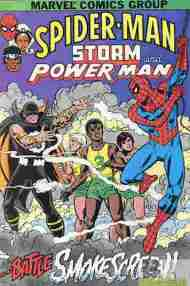 """Yesterday's"" Comic> Spider-Man, Storm, & Power Man"