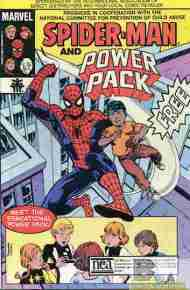 """Yesterday's"" Comic> Spider-Man & Power Pack"