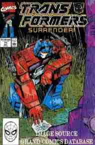 """""""Yesterday's"""" Comic> The Transformers#71"""