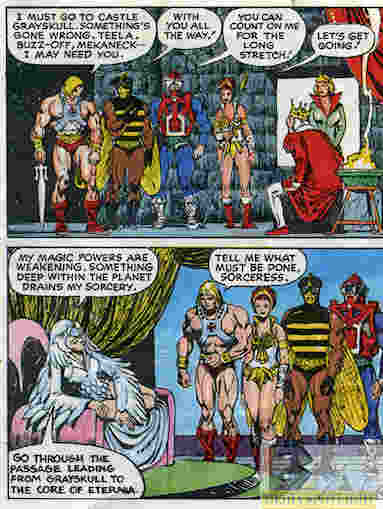 I swear I still read that first panel as He-Man telling Teela to buzz off.