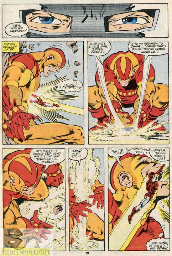 You just saw someone punch a giant. I love comics.