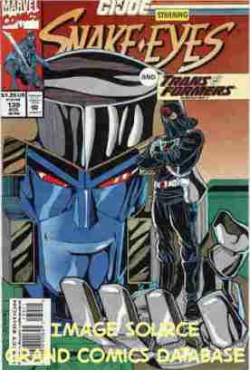 Megatron holding Cobra Commander like an action figure.
