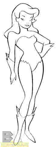 Poison Ivy as she appears in the show bible for Batman: The Animated Series.