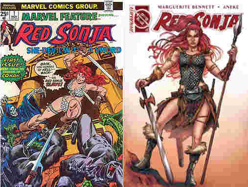 Red Sonja then & now