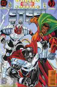 """""""Yesterday's"""" Comic> Steel #7 (Worlds Collide ch.12"""