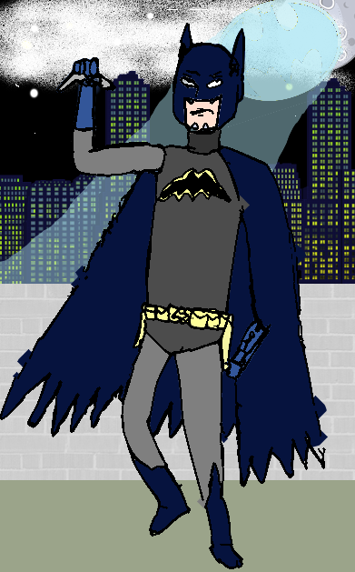 Reconstructed Batman pose