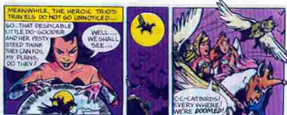Catra doing her Skeletor impersonation. And...catbirds. The winged cats are called catbirds. Do they hunt themselves?