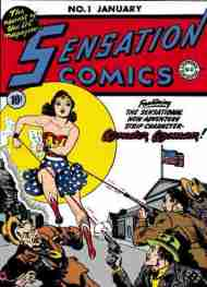 """Yesterday's"" Comic> Sensation Comics #1 (or part of it)"