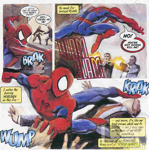 """You're not going to kill me!"" That Spidey is such a riot."